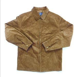 Vintage Claiborne Brown Suede Zip Up Golf Jacket M